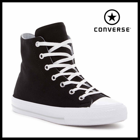 7386c106dd8dcf CONVERSE BLACK HIGH TOPS ALL STAR SNEAKERS